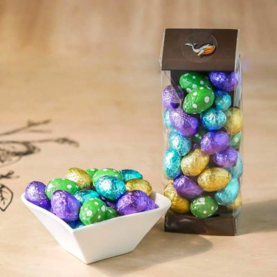 Ballotin d'œufs colorés garnis