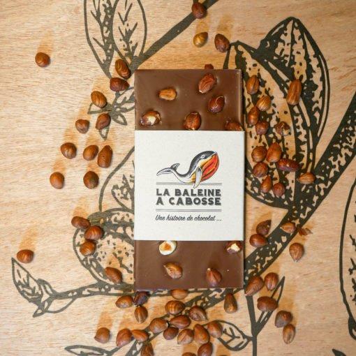 Tablette de chocolat au lait & noisettes torréfiées 1