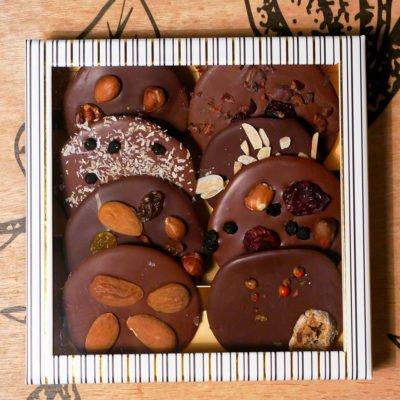 Petite boite mendiants chocolat noir